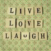 "Art Group Leinwandbild ""Live Love Laugh"" von Cassia Beck, Typografische Kunst"