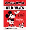 Art Group Mickey Mouse, Wild Waves Vintage Advertisement Canvas Wall Art