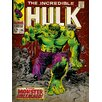 """Art Group Incredible Hulk """"Monster Unleashed"""" Poster Vintage Advertisement on Canvas"""