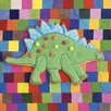 Art Group Stiggle Stegosaurus by Howard Shooter and Lauren Floodgate Wall Art on Canvas