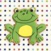 """Art Group Leinwandbild """"Happy Hoppy Frog"""" von Howard Shooter und Lauren Floodgate, Wandbild"""