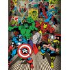 Art Group Marvel Comics, Here Come The Heroes Vintage Advertisement Canvas Wall Art