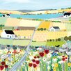 "Art Group Leinwandbild ""Bright Meadow"" von Janet Bell, Wandbild"