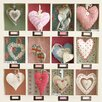 Art Group Hearts Collection by Howard Shooter Collage Canvas Wall Art