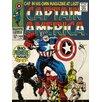 Art Group Captain America Premier Poster Vintage Advertisement on Canvas
