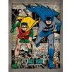 Art Group Batman, Comic Montage Poster Vintage Advertisement Canvas Wall Art