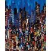Art Group Night Colour Show by Serge Mendjisky Canvas Wall Art