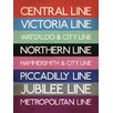 Art Group Transport for London - London Transport Tube Lines Typography Canvas Wall Art