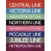 Art Group Leinwandbild Transport for London - London Transport Tube Lines, Typografische Kunst