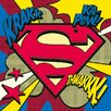 Art Group Superman Pop Art Shield Canvas Wall Art