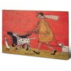Art Group Walkies by Sam Toft Art Print Plaque