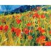 """Art Group Leinwandbild """"South Downs Poppies"""" von Chris Forsey, Wandbild"""
