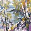 "Art Group Leinwandbild ""Birch In Spring"" von Chris Forsey, Wandbild"
