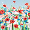 Art Group Cornflowers and Poppies by Janet Bell Canvas Wall Art