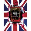 Art Group Heinz Orla Walsh - Union Jack Tomato Soup Vintage Advertisement Canvas Wall Art