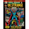 Art Group Marvel Comics Dr. Strange - World Gone Mad Vintage Advertisement Canvas Wall Art
