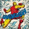 Art Group Marvel Comics Iron Man Shraklash! Vintage Advertisement Canvas Wall Art