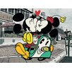 Art Group Mickey Shorts Mickey And Minnie Canvas Wall Art