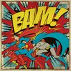 Art Group DC Comics - Bam! Vintage Advertisement Canvas Wall Art