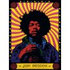 Art Group Jimi Hendrix - Psychedelic Canvas Wall Art