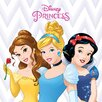 Art Group Disney Princess - Belle, Cinderella and Snow Vintage Advertisement on Canvas