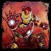Art Group Avengers Age of Ultron - Iron Man Vintage Advertisement Canvas Wall Art