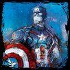 Art Group Avengers Age of Ultron - Captain America Canvas Wall Art