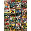 Art Group Marvel - Thor Covers Vintage Advertisement Canvas Wall Art