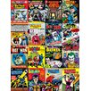 Art Group DC Comics - Batman Comic Covers Montage Vintage Advertisement Canvas Wall Art