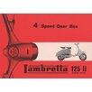 Art Group Lambretta 4 Speed Gear Box Vintage Advertisement Canvas Wall Art