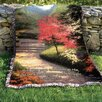 Manual Woodworkers & Weavers Afternoon Light Dogwood Tapestry Cotton Throw