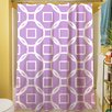 Manual Woodworkers & Weavers Modern Geometric Lavender Shower Curtain