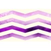 Manual Woodworkers & Weavers Ombre Chevron Purple/White Area Rug