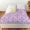 Manual Woodworkers & Weavers Modern Geometric Lavender Duvet Cover