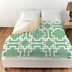 Manual Woodworkers & Weavers Modern Geometric Mint Duvet Cover