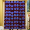Manual Woodworkers & Weavers Line Dots Shower Curtain