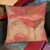 Manual Woodworkers & Weavers Golden Floral Printed Throw Pillow