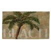 Manual Woodworkers & Weavers Beach Palm Green/Sand Area Rug