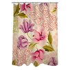 Manual Woodworkers & Weavers Tulips and Lace Shower Curtain
