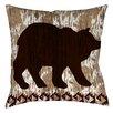 Manual Woodworkers & Weavers Wilderness Bear Indoor/Outdoor Throw Pillow