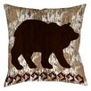 Manual Woodworkers & Weavers Wilderness Bear Printed Throw Pillow