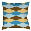 Manual Woodworkers & Weavers Bold in Blue Argyle Indoor/Outdoor Throw Pillow