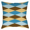 Manual Woodworkers & Weavers Bold in Blue Argyle Printed Throw Pillow
