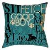 Manual Woodworkers & Weavers Dog Commands Indoor/Outdoor Throw Pillow