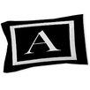 Manual Woodworkers & Weavers Classic Block Monogram Sham