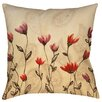 Manual Woodworkers & Weavers Floral Paisley Stems Printed Throw Pillow