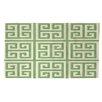 Manual Woodworkers & Weavers Greek Key 2 Mint Area Rug