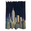 Manual Woodworkers & Weavers Midnight in Midtown Shower Curtain