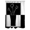 Manual Woodworkers & Weavers Minimalist Flower in Vase II Shower Curtain