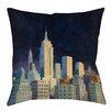 Manual Woodworkers & Weavers Midnight in Midtown Indoor/Outdoor Throw Pillow